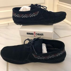 Minnetonka Mosaic Boot Black Bootie Moccasin